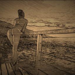 interesting nature beach riverside girls freetoedit