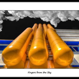photography colorful industrial yellow sky