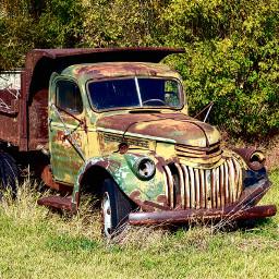 landscape vintage truck art freetoedit