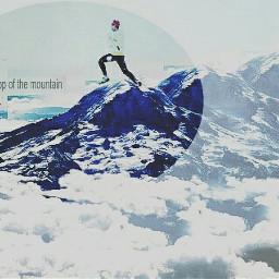 freetoedit remix shapemasks mountains circle
