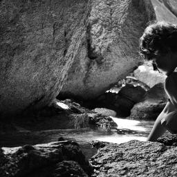 boy son cave spring peaceful