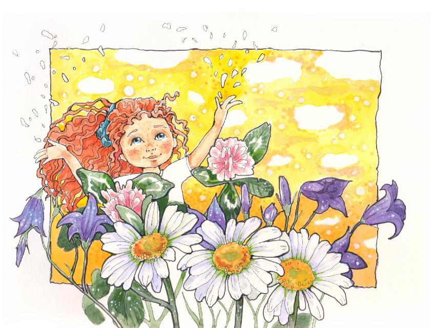June #colorsplash #nature #flower #colorful #summer #emotions #drawing #sketch #marishroom_calendar2017