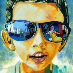 wdpsunglasses draw drawing painting people children cute portrait