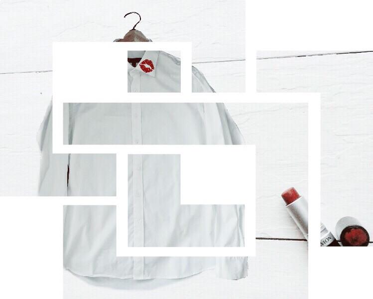 When playing with your husbands favorite shirt...💄💋 Laundry can be fun🎨🖌 My photo of shirt and @freetoedit image   #freetoeditedited #white #shirt #red #lipstick #kiss #love #passion #minimal #shapemask #FreeToEdit