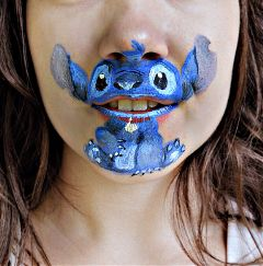 facepaint liloandstitch stitch interesting art wppcrazylips