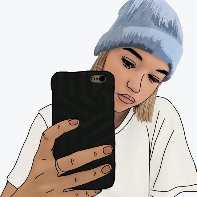 #madewithpicsart #FreeToEdit #selfie #selfieday #cute #art #artwork #cartoon #girls #hair #blondehair #hat #blur #sexy #tumblr #lips #iphone #photography #people #draw #drawing #illustration #sketch