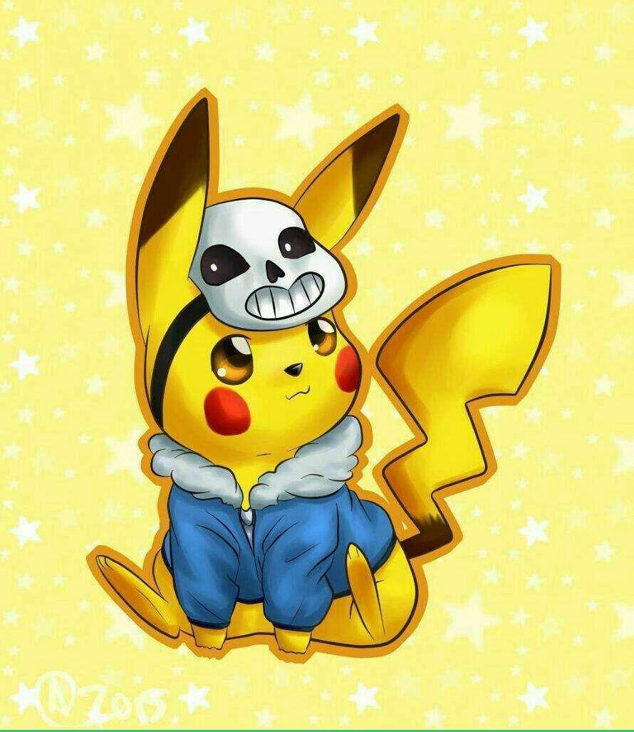 Freetoedit pokemon pikachu kawaii cute sans undertale - Pikachu kawaii ...