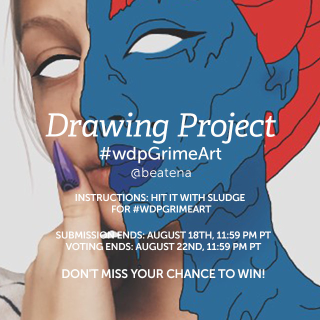 Get your hands dirty with grime art for our Weekly Drawing Project. Grime art is the funky trend of covering your photos in oozing sludge using PicsArt Drawing Tools. Make a mess and have fun! Tag your creation with #wdpGrimeArt to enter the Contest.