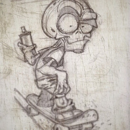 skateboard papel colour blackandwhite