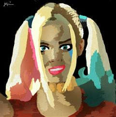 popart harleyquinn freetoedit drawing baby