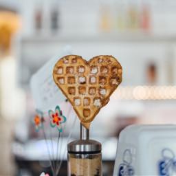 freetoedit waffle desspert sweet heart